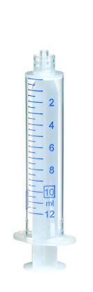 Sprøjte plast m/luer-lock, 10 ml, 100 stk