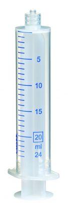 Sprøjte plast m/luer-lock, 20 ml, 2-komp., 100 stk