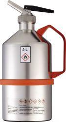 Safety can V4A, dosage spout, relief valve, 2 l