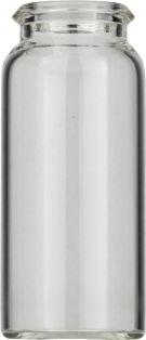 10ml Snapglas N18 22mm, 50mm, klar, flad bund, 100