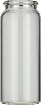 25ml Snapglas N22 26mm, 65mm, klar, flad bund, 100