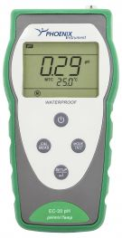 Portable pH-meter kit with pH-electrode and cond.-