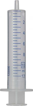 Disposable 10 mL syringes with Luer tip made of polypropylene