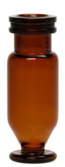 Mikro-vial SR 1,1ml, 11mm, brun, med fod, 100stk